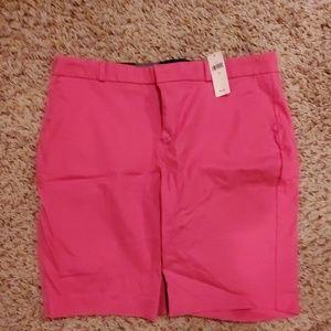 NWT pink bermuda shorts